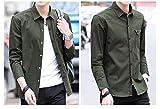 XTAPAN Men's Casual Slim Fit Shirt Cotton Long