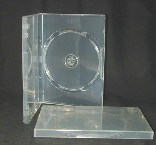 100 x Empty Standard Clear Replacement Boxes / Cases for Single DVD Movies #DVBR14CL - Amaray Single Dvd Case