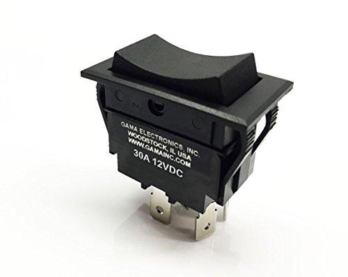 30 amp rocker switch polarity reverse dc motor control for Electric motor reversing switch
