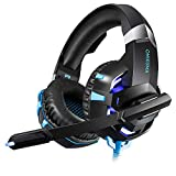 HUAN Gaming Headset for PS4 Xbox One, 3.5mm Stereo USB LED Headphones with Omnidirectional Microphone, Volume Control for Computer Laptop Mac Playstation 4 (Color : 1)