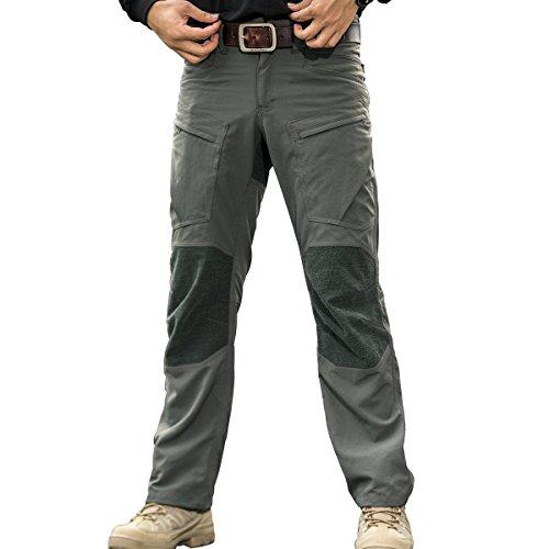 FREE SOLDIER Men's Waterproof Pants Kevlar Tactical Pants for Hiking Climbing Duty Work Pants (Green, 43W/46L XXX-Large)