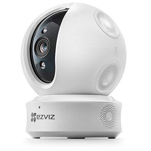 EZVIZ ez360 1080p HD Pan/Tilt/Zoom WiFi Home Security Camera-Auto Motion Tracking, Night Vision, Two-Way Audio (White) (Camera Only) (Auto Wifi)