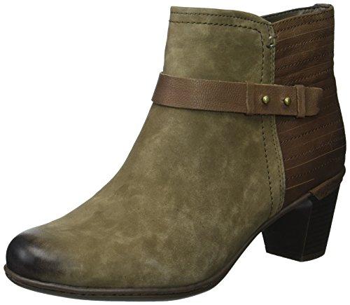 Cobb Hill Women's Rashel Buckle Boot Ankle Stone Nubuck