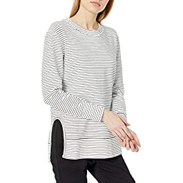 Amazon Brand – Daily Ritual Women's Terry Cotton and Modal Pullover with Side Cutouts