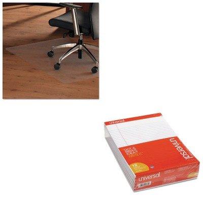 KITFLR1215020ERAUNV20630 - Value Kit - Floortex ClearTex Ultimat Anti-Slip Chair Mat for Hard Floors (FLR1215020ERA) and Universal Perforated Edge Writing Pad (UNV20630) by Floortex