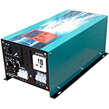 20000W peak 5000W LF Pure Sine Wave Power Inverter DC 12V to AC 110V, with 80A BC / UPS / LCD display