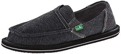 Sanuk Women's Pick Pocket Fleece Slip-On Loafer (37 M EU / 6 B(M) US, Charcoal)
