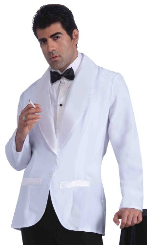 Forum Novelties Vintage Hollywood Formal Costume Jacket, White, Standard -