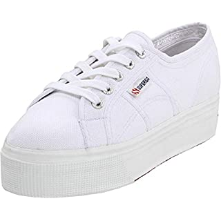 Superga womens 2790 Acotw Platform Fashion Sneaker, White, 6 US