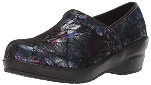- Spring Step Professional Women's Selle-FOIL Clog, Purple Multi, 9.5 Medium US