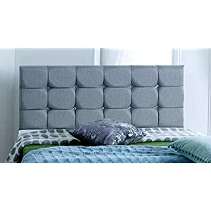 4FT6 Double FOOT JAMBO DRAWER Paris Grey Fabric Divan Bed Set, Memory Mattress and headboard.UK