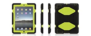 Griffin Survivor Extreme-duty Military Case with Stand for Ipad 2/3/4 (Black/Citron)