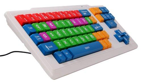 DURAGADGET Divertido Teclado De Colores Infantil Modelo INGLÉS- Perfecto Para Aprender Y Enseñar Mecanografía