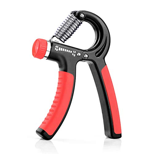 KOOLIFE Hand Grip Strengthener, Hand Workout strengthening Equipment,Grip Exercise Trainer, Hand Gripper Strengthen Exerciser with Adjustable Resistance Range 22 to 88 Lbs - Red