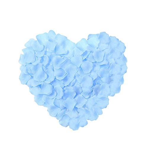 Neo LOONS 2000 Pcs Artificial Silk Rose Petals Decoration Wedding Party Color Light Blue