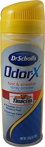 Dr. Scholl's Odor Destroyers Foot & Sneaker Spray Powder 4.70 oz (Pack of 3) -