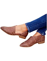Womens Casual Slip-On Loafer Pointed Toe Cut Out Slip on Office Casual Dressy Ankle Boot