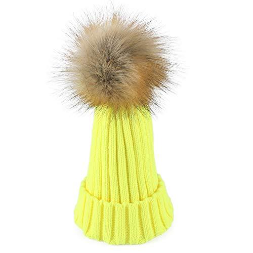De Señoras Sombrero De Punto Libre Caliente WGFGQX 13 1 Pompom Sombrero Al Aire Las del Y4xvq45wI