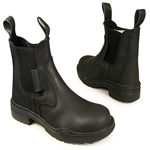 Joy Rider Steel Toe Jodhpur Boot - Ladies Mens Horse Equestrian Showing Leather Black k1fwfTecNC