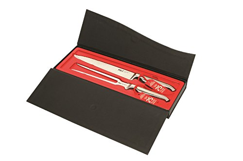 Furi Knives 2 Piece Pro Carving Knife Set Includes Carving Fork & Carving Knife with Case by Furi Knives