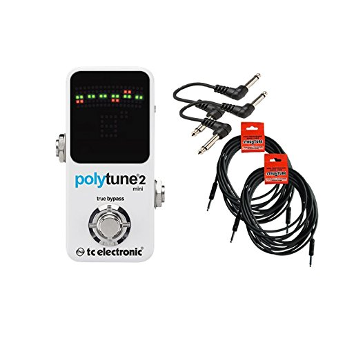 TC Electronic PolyTune Mini Guitar Tuner Pedal Bundle 966121001