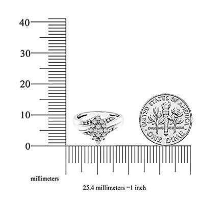 0.10 Carat (ctw) 10K Gold Round White Diamond Ladies Cluster Flower Ring 1/10 CT by Dazzlingrock