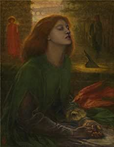 'Dante Gabriel Rossetti - Beata Beatrix,1864-1870' oil painting, 30x39 inch / 76x98 cm ,printed on Perfect effect Canvas ,this Cheap but High quality Art Decorative Art Decorative Prints on Canvas is perfectly suitalbe for dining Room decoration and Home decor and Gifts