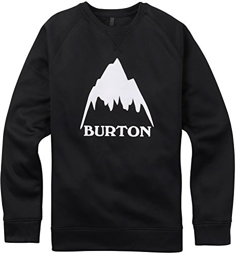 Burton Men's Bonded Crew Hoodie, True Black, Large (Burton Crew Sweater)