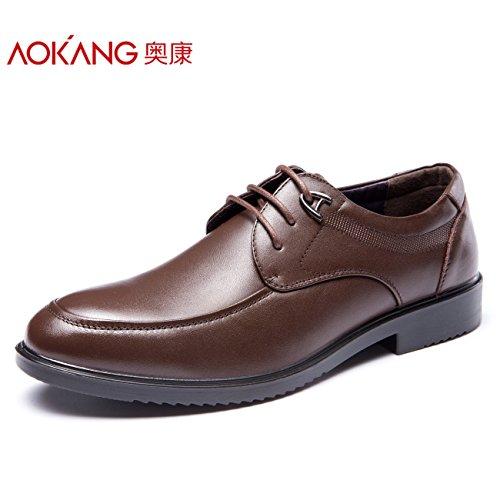 Aemember scarpe da uomo autunno inverno abiti Business cinturino scarpe Soft uomini indossare scarpe uomo marrone,41,