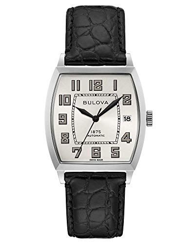 Bulova Banker Leather Automatic Watch 96B328 Limited Edition Joseph Bulova Collection