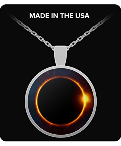 Eclipse Moon Necklace - Sun Covering the Moon - Amazing Gift - Creative