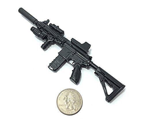 1/6 Scale HK416 Assault Rifle US Army Heckler & Koch Miniature Toy Guns Model Fit For 12