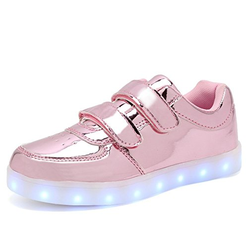 Hanglin Trade Light Up Trainers Kids Girls Boys Walking Shoes Low Top Sneakers