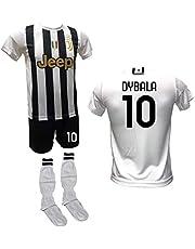 DND DI D'ANDOLFO CIRO Voetbalshirt wit Home Paulo Dybala la Joya, shorts met nummer 10 bedrukt en goedgekeurde sokken replica 2020-2021 maten voor kinderen en volwassenen