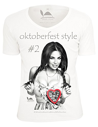 Simsis Circus Oktoberfest Style #2 Nadine Herren T-Shirt regular fit weiss