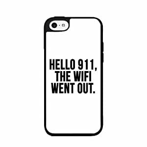 Hello 911 the Wifi Went Out- Plastic Phone Case Back Cover iPhone 5 5s
