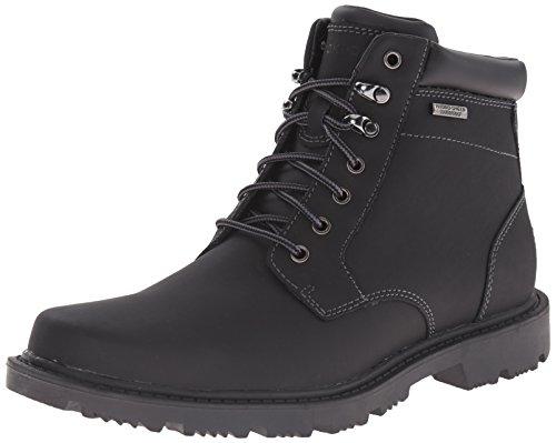 Road Waterproof Men's Redemption Boot Toe Plain Rockport Black Bwg8S4qSn