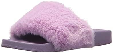 Steve Madden Women's SOFTEY Slide Sandal, Lavender, 6 M US
