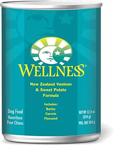 Wellness Complete Health Venison & Sweet Potato Natural Wet Canned Dog Food, 12.5-Ounce Can (Pack of 12) For Sale