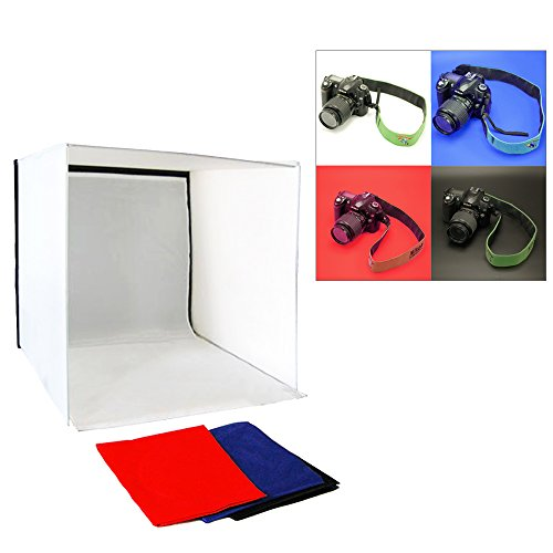 LimoStudio Photo Shoot Tent 24-inch with Color Background, Lightbulb & Soft Box, Light Stand Tripod, Professional Product/Commercial Photography, Photo Studio Lighting Kit, AGG1895V2 by LimoStudio (Image #2)