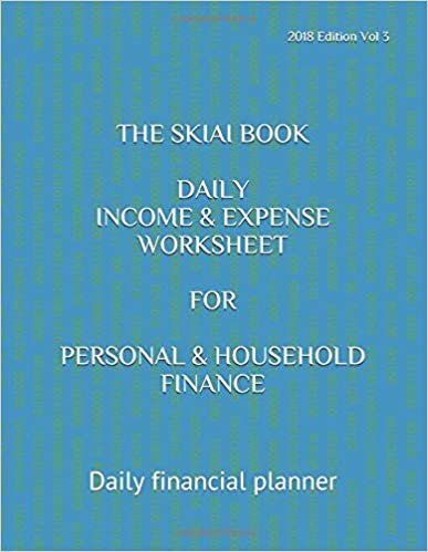 the skiai book daily income and expense worksheet for personal and
