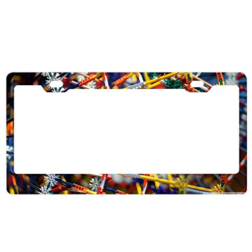 Customized Personalized Luxury Premium Knex Decorative Car License Plate Cover Frame Shields,Standard Non Anti-Theft Model(6