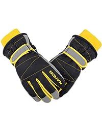 TRIWONDER Ski Gloves for Kids - Waterproof Snowboard Winter Warm Gloves Thermal Fleece Snow Gloves for Boys Girls (Black, M (9-14 years old))