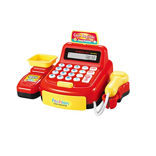 Scale Credit Card JIXUN Pretend Play Cash Register with Scanner Play Money