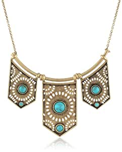 """Lucky Brand """"Cleobella"""" Perforated Collar Necklace, 32"""""""