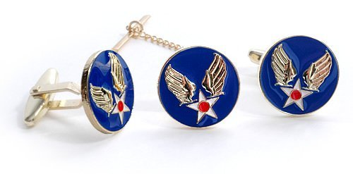 Army Set Cufflinks - Army Air Corps Tie Tack & Cuff Link Set