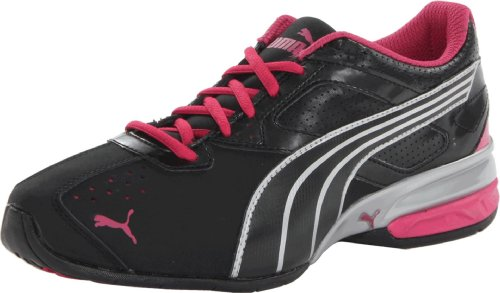 PUMA Womens Tazon 5 Cross-Training ShoeBlackSilverBeetroot Purple9 B US