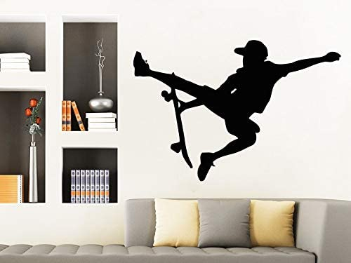 Apliques Niños Deportes Skater Tatuajes de pared Atleta Pegatinas de vinilo Adolescentes Niños Cuarto de niños Decoración para el hogar Wallpaper Arte Dormitorio Mural XCM: Amazon.es: Bebé