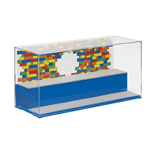 (LEGO Play and Display Case - Blue )