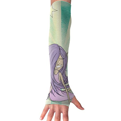 HBSUN FL Unisex Fairy Girl Blue Purple Magic Anti-UV Cuff Sunscreen Glove Outdoor Sport Riding Bicycles Half Refers Arm Sleeves by HBSUN FL